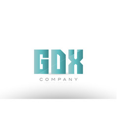 Gdx g d x alphabet three 3 letter green logo icon vector