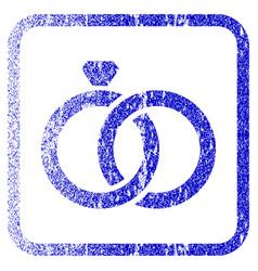 Gem rings framed textured icon vector