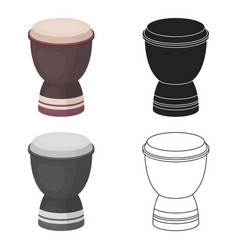 Goblet drum icon in cartoon style isolated on vector