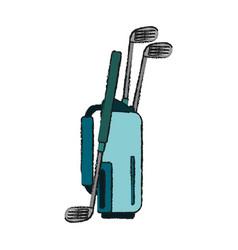 Golf club bag icon imag vector