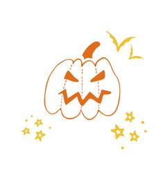 Halloween doodle poster-07 vector