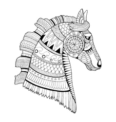 Horse coloring book vector