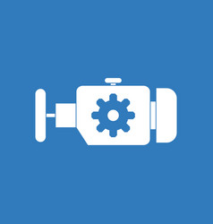 Icon engine and gear vector