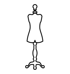 Isolated and silhouette manikin design vector image