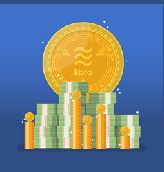 libra currency with cash money in flat style vector image
