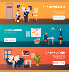 Looking for job banners vector