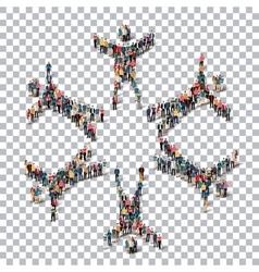 man symbol people 3d Transparency vector image