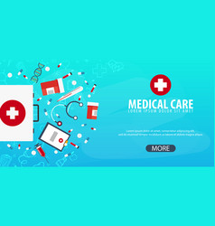 medical care medical background health care vector image