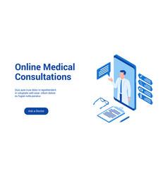 Medical consultations 3d template 2 vector