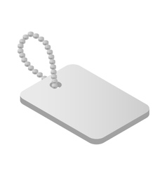 Metallic identification plate isometric 3d icon vector