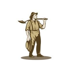 Miner prospector or gold digger vector image