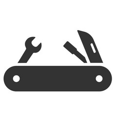 Multi-tools knife flat icon vector