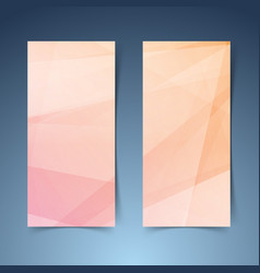 Orange geometrical lines abstract banner vector