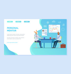 Personal mentor hipster animal conference website vector
