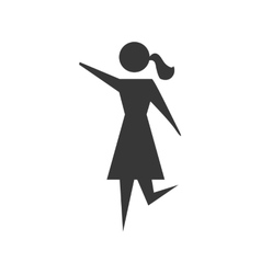 Pictogram icon Female and Woman design vector image