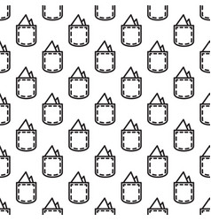 Pocket square gentleman seamless pattern vector
