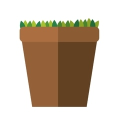 Pot and leaves icon Gardening design vector image