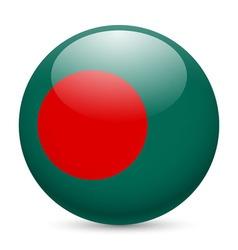 Round glossy icon of bangladesh vector image