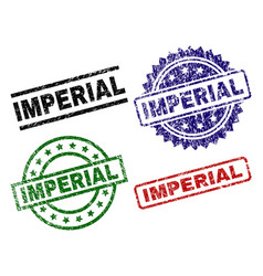 Scratched textured imperial stamp seals vector