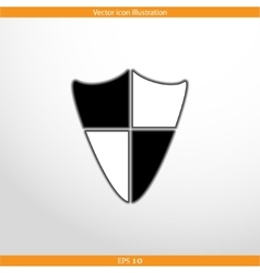 shield web flat icon vector image