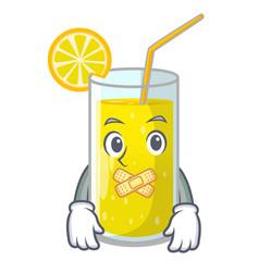 Silent fresh lemon juice in glas cartoon vector