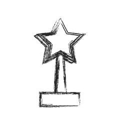 Star trophy win prize sketch vector