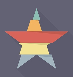 Step design of five part star vector image