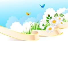 summer ribbon vector image