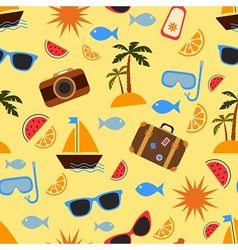 Summer vacation and travel vector image