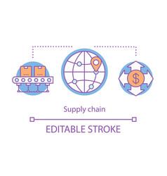 Supply chain concept icon vector