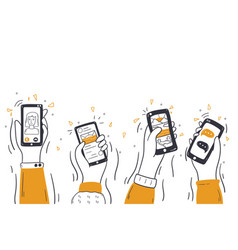 technology social media wireless communication vector image