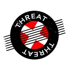 Threat rubber stamp vector