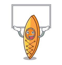 Up board canoe character cartoon style vector