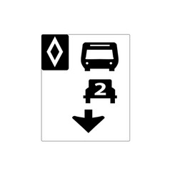 usa traffic road signstwo or more passengers must vector image