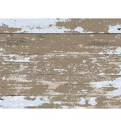 Vintage Aged Peeled Paint Wooden Boards Background vector
