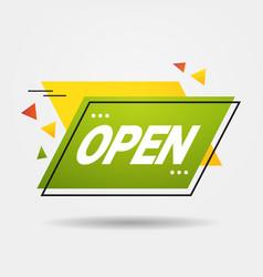 we are open again after coronavirus quarantine vector image