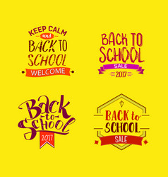 welcome back to school tags vector image