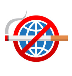 world no tobacco day sign vector image