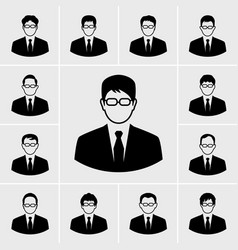 business man icons vector image vector image
