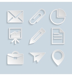 Business Paper Icons vector image vector image