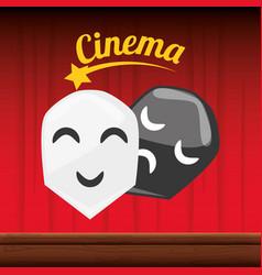 cinema short film with genres scene vector image