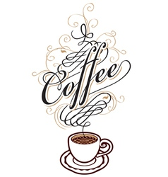 coffee cup vector image