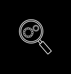 research optimization line icon vector image