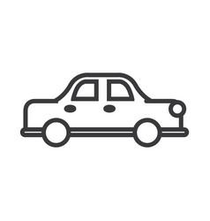 retro car line icon sign on vector image