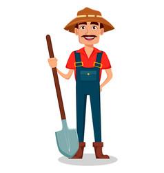 farmer cartoon character vector image