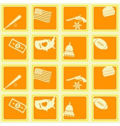 Seamless background with usa icons vector image vector image