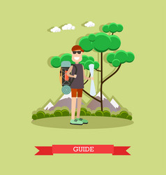 tour guide in flat style vector image vector image