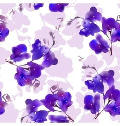 Watercolor imitation tropical orchid flower vector image vector image