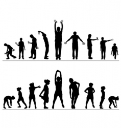 woman and man fitness vector image vector image