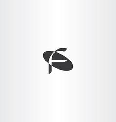 black letter f icon sign logo vector image